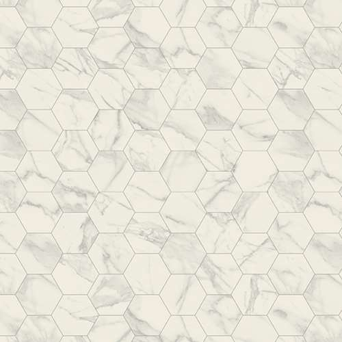 Tarkett Iconik Trend - Marble Bianco Hexagon Grey